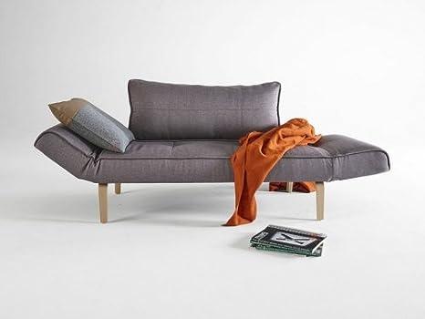 Divano Letto Curvo : Innovation zeal divano letto grigio scuro con piedino curvo in