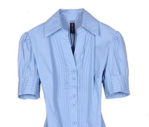 Mono Delgado A Con De La Blusa Azul Remata Zamme Del Ol Botones Mujeres Las Clásicas Camisas YqwdZdC