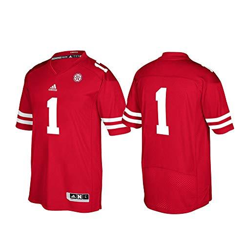 adidas Nebraska Cornhuskers NCAA Men's #1 Red Premier Football Jersey (XL) 1 Premier Football Jersey