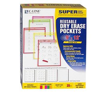 CLI40820 - Reusable Dry Erase Pockets