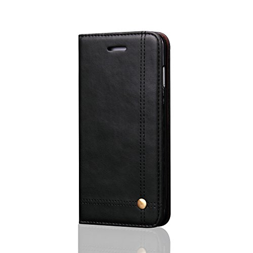 Samsung Galaxy S9 Wallet Case,Jaminer Genuine Leather Folio Wallet Flip Case Card Slot Protective Cover Cases + Foldable Media Stand for Samsung Galaxy S9
