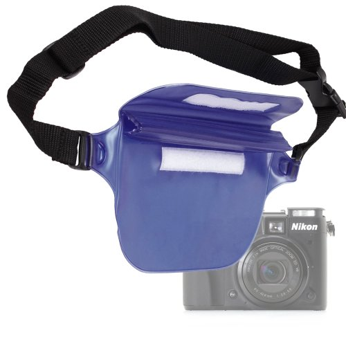 DURAGADGET Waterproof Dry Pouch/Waist Bag - Compatible with Compact Cameras Including Nikon Coolpix L330, P7100, S8100, S9100, S9300, S6300 & L810 (Blue)