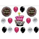 Zebra Stripe Cake Birthday Party Balloons Decorations Supplies Animal Print