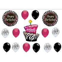 Zebra Stripe Cake Balloons