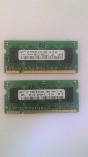 M470T6554CZ3-CD5 0634 512MB PC2-4200 DDR2 533MHz 200-PIN SODIMM (Samsung 512mb Ddr2 Pc2)