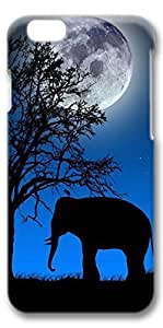 iPhone 6 Case, Elephant Blue Customize Protective Slim Hard 3D Case Cover for New Apple iPhone 6(4.7 inches)