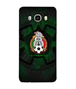 ColorKing Football Mexico 08 Black shell case cover for Samsung J5 2016