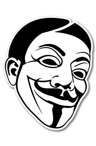 Anonymous Mask Occupy America Vinyl Sticker - Car Phone Helmet - SELECT SIZE -