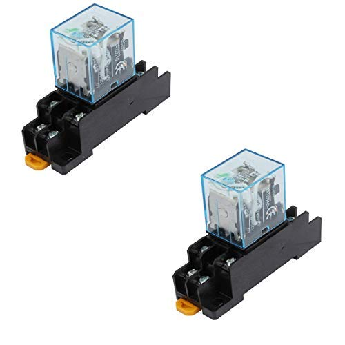12v Ac Dpdt Relay - Yohii 2Pcs IEC255 DC 12V Coil 8Pin DPDT Electromagnetic Power Relay w Socket Base