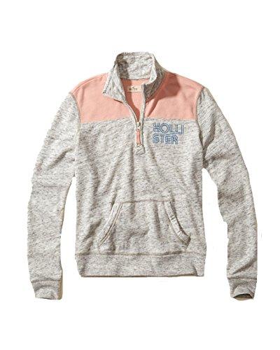 Hollister Womens Hoodie Sweatshirt  L  Grey 18