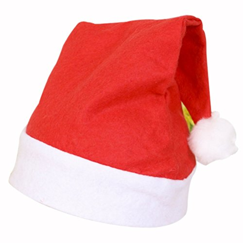Homemade Snowman Costume (LDDZero Christmas hat Nice Festive Holiday Hat Christmas Costume (red&white)-Adult)