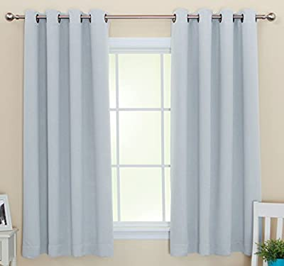 Stainless Steel Nickel Grommet Top Solid Thermal Insulated Blackout Curtain