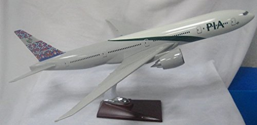 47cm 1:160 NEW PAKISTAN INTERNATIONAL AIRLINES 777 FIBREGLASS RESIN MODEL PLANE AIRPLANE