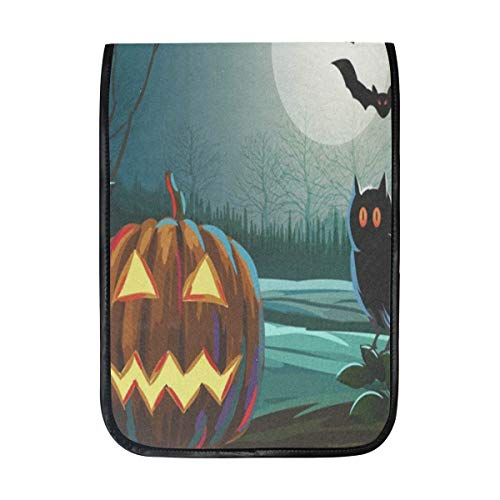 Ipad Pro 12-12.9 inch Sleeve Case Bag for Surface Pro Spooky Halloween with Pumpkin and Owl Mac Protective Carrying Cover Handbag for 11
