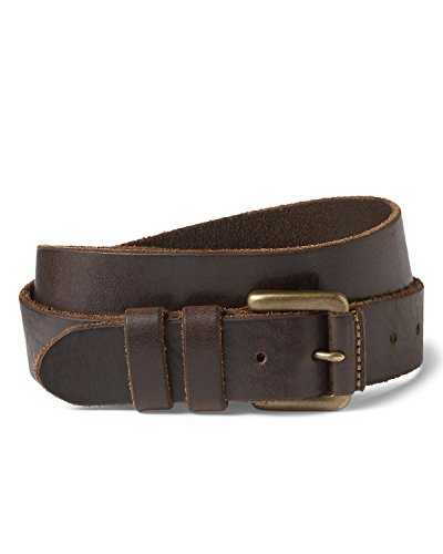 Eddie Bauer Men's American Sportsman Leather Belt, Oak Regular 38