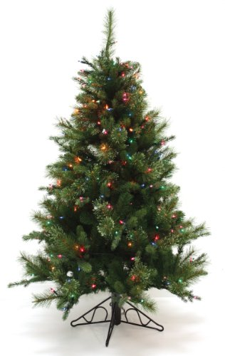 Tidings Tree Good Christmas (Special Happy Corp LTD Nordmann Fir Artificial Prelit Christmas Tree, 4-1/2-Feet, Clear Lights)