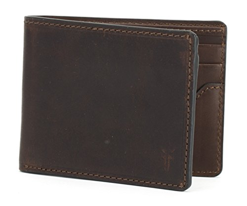 Logan Slim Id Billfold Wallet, dark brown, One Size by FRYE