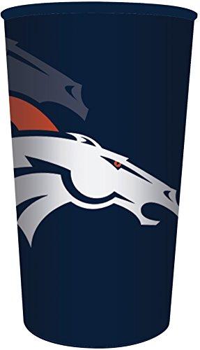 Creative Converting NFL 20 Count Plastic Souvenir Cups, Denver Broncos, 22 oz, Orange (Denver Broncos Cups)