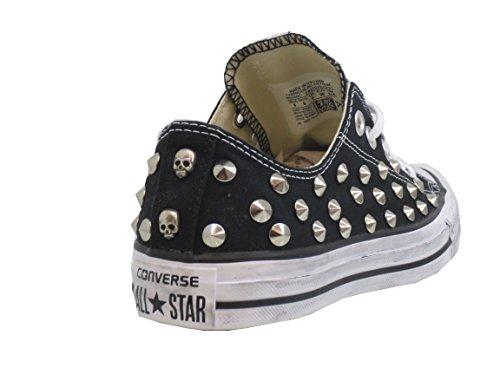 basse all Converse OX Borchie prodotto black star nero artigianale wTwaqdgIx