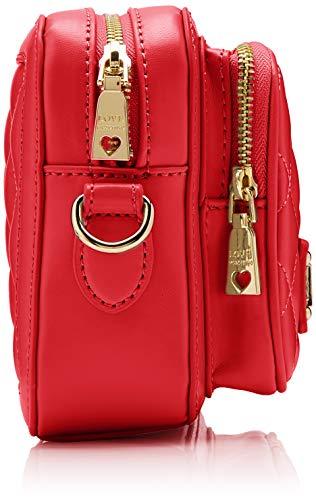 Love Donna Cm 15x10x15 L Quilted Rosso Nappa Borsa w X Tracolla rosso A H Pu Moschino F40wxF