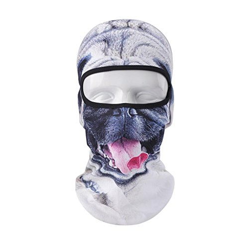 VERTAST Balaclava Face Mask, 2017 New Design 3D Animal Active Full Face Mask for Skiing Cycling Motorcycling Helmet Liner Hiking Camping Neck Warmer, Bad-dog