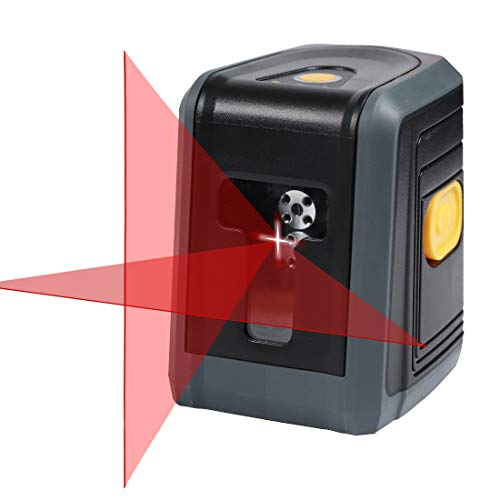 HARVET Professional Self-Leveling Cross, Horizontal and Vertical Line Laser Level With Dual Laser Sources, Red ()