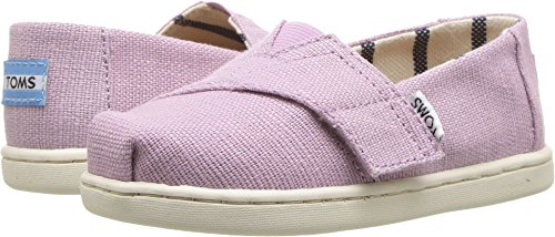 TOMS Kids Baby Girl's Venice Collection Alpargata (Infant/Toddler/Little Kid) Soft Lilac Heritage Canvas 6 M US Toddler - Image 3