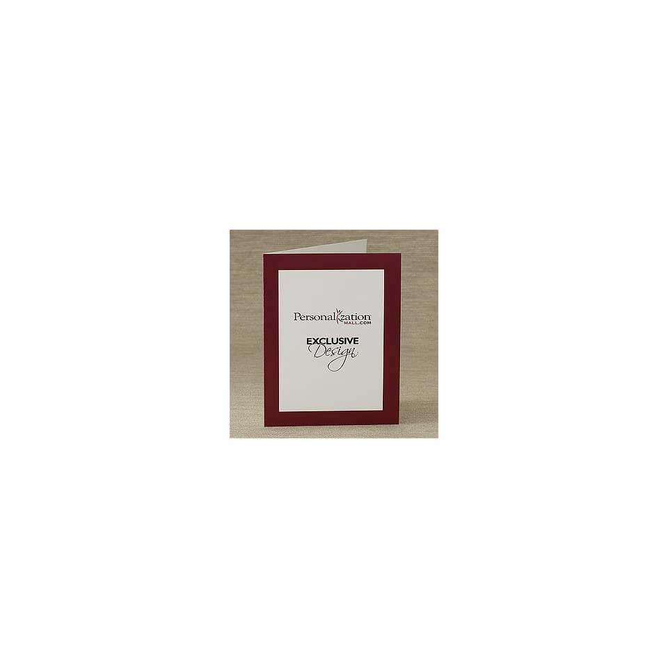 Personalized Company Logo Business Note Cards   Vertical