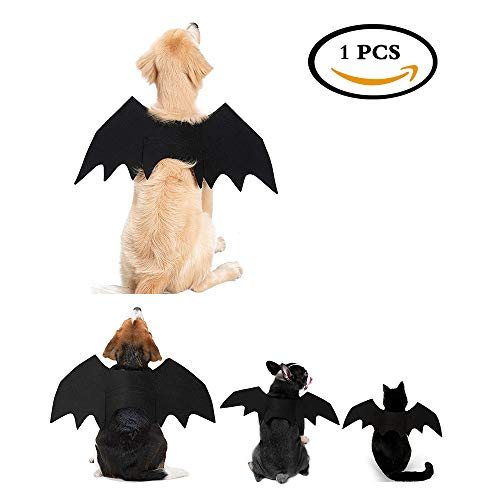 STAR-TOP Halloween Pet Bat Wings Small Large Dog Cat Bat Costume Clothing (3#:Chest 28.3