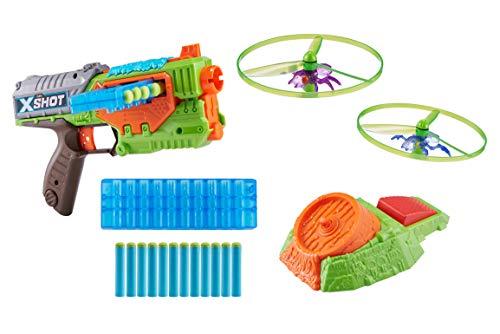 (ZURU X-Shot New Flying Bug Attack Swarm Seeker Dart Blaster 1 Pack (12 Darts) (Custom Packaging) Toy of The Year Finalist)