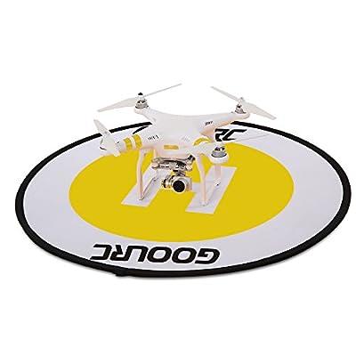 Drone Landing Pad,GoolRC Universal Waterproof 78cm Apron Fast Foldable Retractable Fluorescence Landing Pad for DJI Mavic Pro Phantom 3 4 FPV Quadcopter RC Helicopter