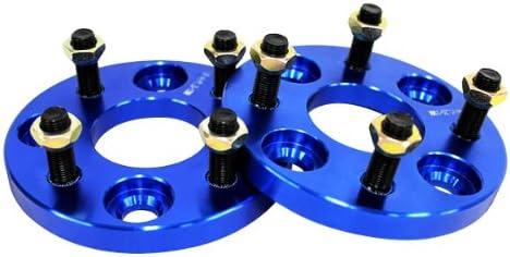[スポンサー プロダクト]ワイドトレッドスペーサー ブルー 2枚セット PCD100 4H M12×P1.25 厚さ15mm SPB0715