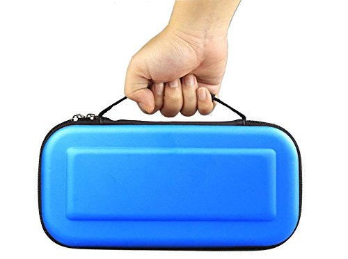 Nintendo Switch Case Hard Shell Travel Carrying Protective Storage Bag for Nintendo Switch- Blue (Bl Switch Box)