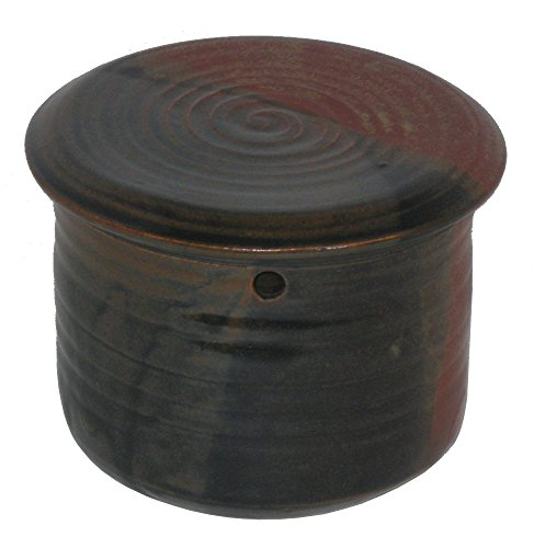 Holman Pottery Stoneware French Butter Keeper, Red Earth