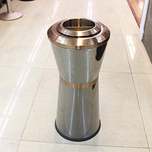ゴミ袋 ゴミ箱用アクセサリ 円形の縦のゴミ箱のホテルのロビーのステンレス鋼の創造的な灰色のバケツ8Lの貯蔵のバケツ キッチンゴミ箱
