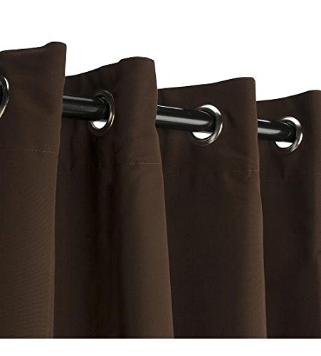 Sunbrella Outdoor Curtain with Grommets - Bay Brown - 50''X108''