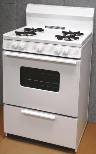 SFK290OP 30'' Freestanding Gas Range With ADA Compliant Front Controls 17000 BTU Oven Burner Heavy Duty Cast Iron Grates Bakeview Oven Door and Four 9100 BTU Open Burners In White
