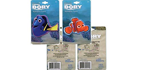 Disney Finding Dory and Nemo Adhesive Patch Set of 2 Sticker Patches Licensed
