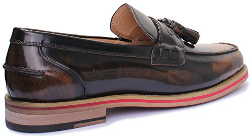Black Yellow Justin homme en Chaussures cuir mat Av Denver Reece pour OwqaZPa
