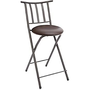 Amazon Com Set Of 2 Slat Back Folding 24 Quot Barstool