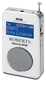 Roberts Sports DAB2 DAB/FM RDS Personal Digital Radio with Loudspeaker - White