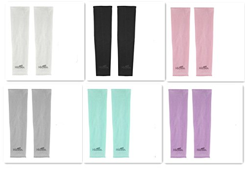 Cool-Shop® UV Protection Cooler Arm Sleeves for Bike/Hiking/Golf (6 Pairs)