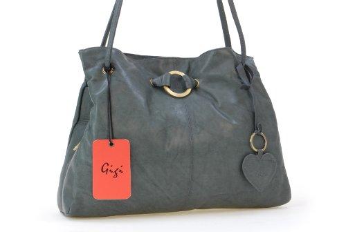 GIGI - OTHELLO 4323 - Bolso de hombro - Cuero Platino (Oscuro Gris)