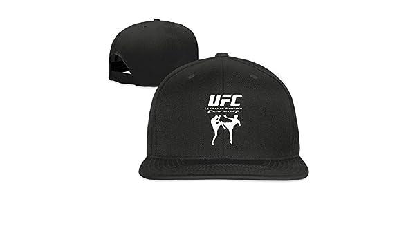 miopaige Ultimate Fighting Championship UFC sábana bajera ajustable visera plana Gorra de béisbol sombrero, Negro: Amazon.es: Deportes y aire libre