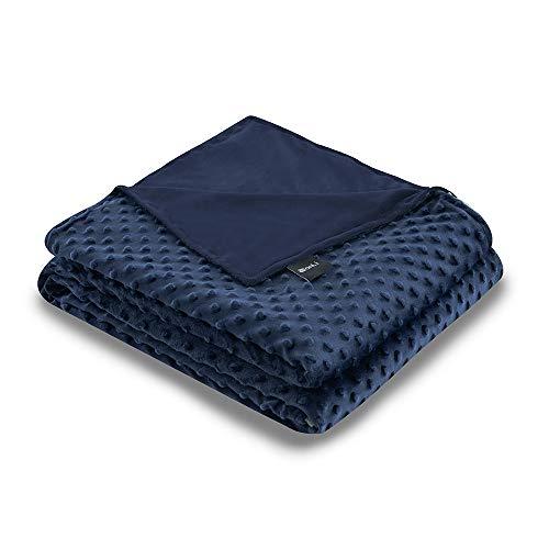 ZonLi-48x72-NavyNavy-Minky-Dot-Duvet-Cover-Removable-Duvet-Cover-for-Weighted-Blanket