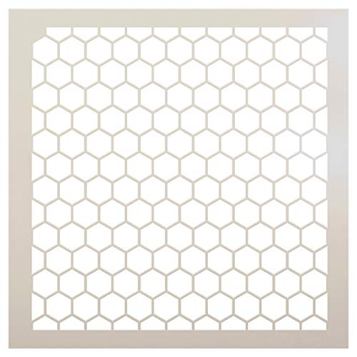 Honeycomb Stencil by StudioR12   Country Repeating Pattern Stencil - Reusable Mylar Template   Painting, Chalk, Mixed Media   Use for Journalingt, DIY Home Decor - STCL810 (18
