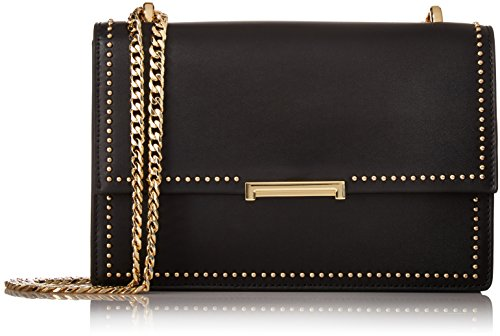Ivanka Trump Mara Cocktail Bag Black, Black/Pink Studs by Ivanka Trump