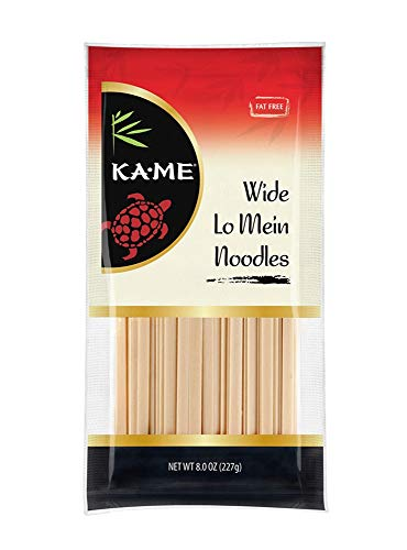 Ka-Me Noodles, Wide Lo Mein, 8 Ounce (Pack of 12) (Wel Pac Chow Mein Stir Fry Noodles Recipes)