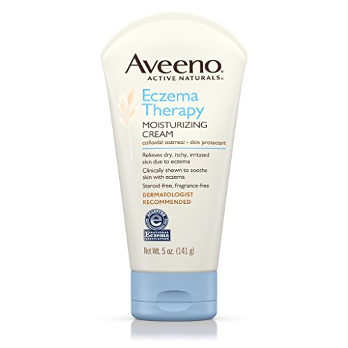 Aveeno Eczema Therapy Moisturizing Cream Relieves Dry Itchy Skin, 5 Oz (Pack of 3) (Dry Skin Therapy)