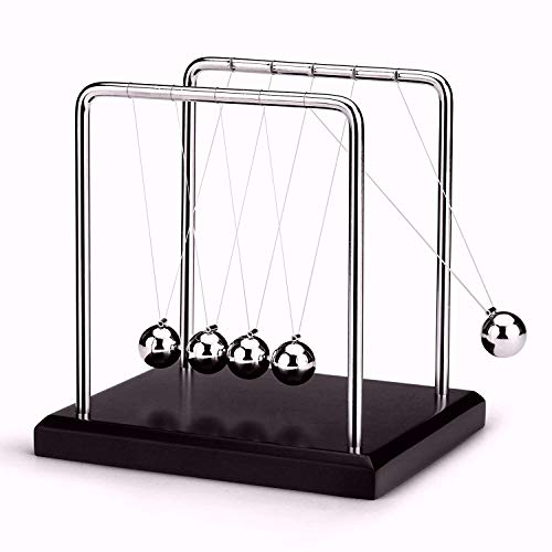 US.SSR Newton's Cradle - Demonstrate Newton's Laws with Swinging Balls - Office Desk ()